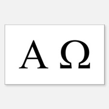 """Alpha & Omega"" Rectangle Decal"