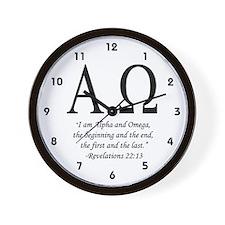 """Alpha & Omega"" Wall Clock"