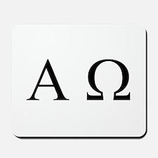 """Alpha & Omega"" Mousepad"
