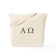 """Alpha & Omega"" Tote Bag"