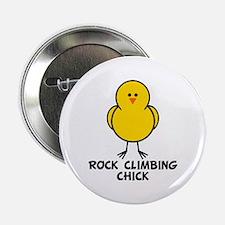"Rock Climbing Chick 2.25"" Button"