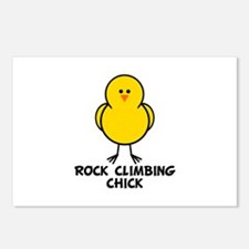 Rock Climbing Chick Postcards (Package of 8)