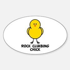 Rock Climbing Chick Oval Decal