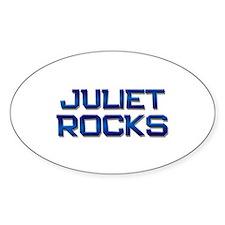 juliet rocks Oval Decal