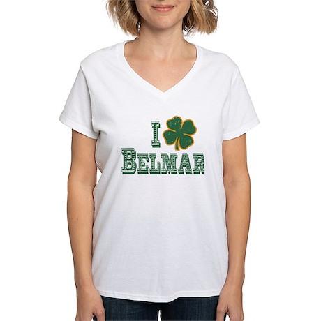 I love Belmar - St. Patrick's Women's V-Neck T-Shi