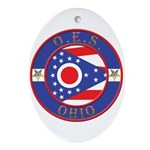 Ohio OES Oval Ornament