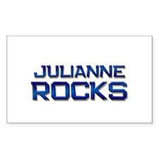 julianne rocks Rectangle Decal