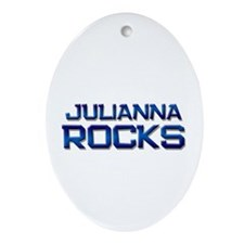 julianna rocks Oval Ornament