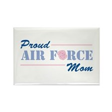 Proud Air Force Mom Rectangle Magnet (100 pack)