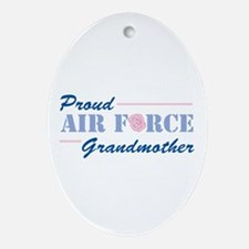 Proud Grandmother Oval Ornament