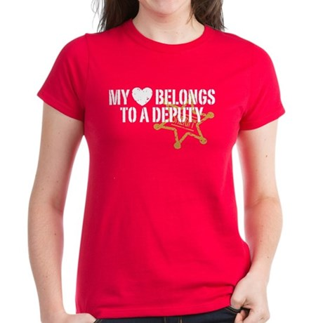 My Heart Belongs to a Deputy Women's Dark T-Shirt