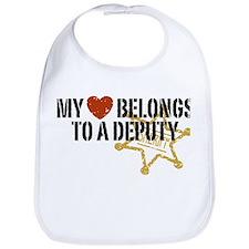 My Heart Belongs to a Deputy Bib