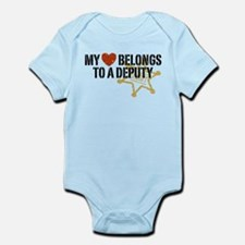My Heart Belongs to a Deputy Infant Bodysuit