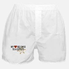 My Heart Belongs to a Deputy Boxer Shorts