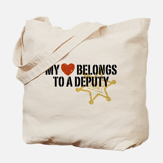 My Heart Belongs to a Deputy Tote Bag