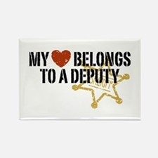 My Heart Belongs to a Deputy Rectangle Magnet