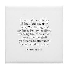 NUMBERS  28:2 Tile Coaster