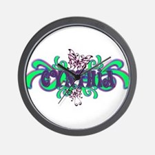 Cynthia's Butterfly Name Wall Clock