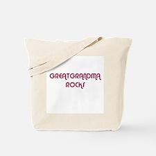 GREATGRANDMA ROCKS Tote Bag