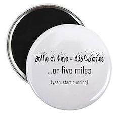 Bottle of Wine = 5 Miles Magnet