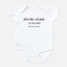 Bottle of Wine = 5 Miles Infant Bodysuit