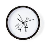 Whooping Cranes Wall Clock
