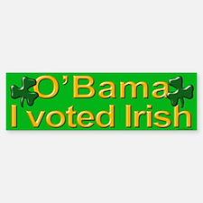 Voted Irish Bumper Bumper Bumper Sticker