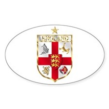 England Gold Shield Soccer Oval Decal