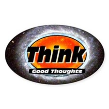 Think Good Thoughts Oval Decal