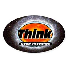 Motivational Saying Sticker - Think good thoughts