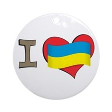 I heart Ukraine Ornament (Round)