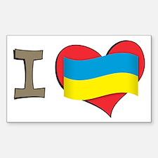 I heart Ukraine Rectangle Decal