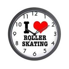 I Heart (Love) Roller Skating Wall Clock