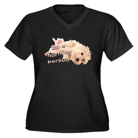 Cairn morning Women's Plus Size V-Neck Dark T-Shir