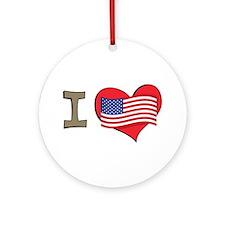 I heart USA Ornament (Round)