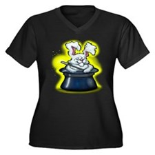 Cute Silly rabbit Women's Plus Size V-Neck Dark T-Shirt