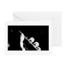 Black nail polish Greeting Card