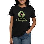 Kiss Me I Recyle Women's Dark T-Shirt