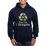 Kiss Me I Recyle Hoodie (dark)