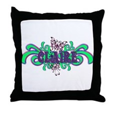 Claire's Butterfly Name Throw Pillow