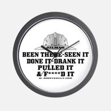 Been There, Seen It, Done It Wall Clock,Oil,Gas
