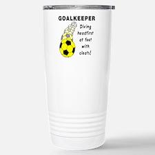 Soccer Goalkeeper Stainless Steel Travel Mug