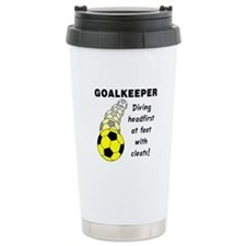 Soccer Goalkeeper Travel Coffee Mug