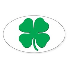 Classic 4 Leaf Clover - Oval Decal