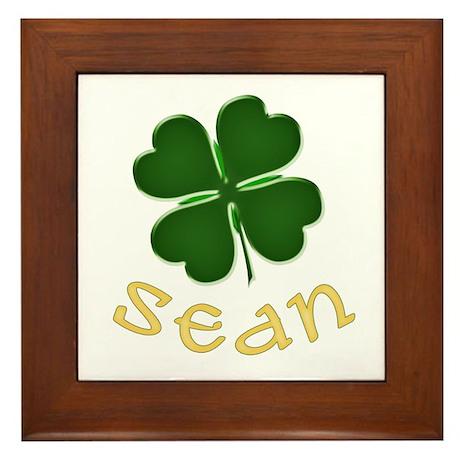 Sean Irish Framed Tile