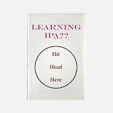 IPA - Hit Head Here Rectangle Magnet