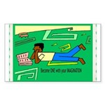 Become 1 Rectangle Sticker