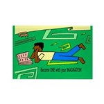 Become 1 Rectangle Magnet (100 pack)