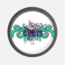 Chris's Butterfly Name Wall Clock