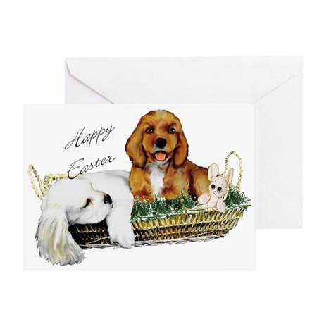 Cocker spaniel Easter card Greeting Card